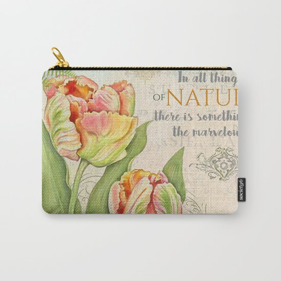 Vintage Flowers #26 Carry-All Pouch