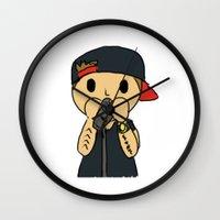 liam payne Wall Clocks featuring Liam by clevernessofyou