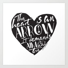 Heart is an Arrow - Six of Crows design Art Print