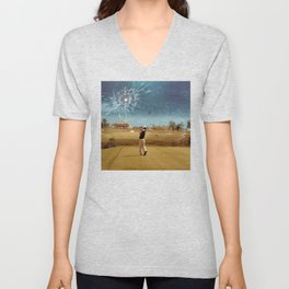 Broken Glass Sky Unisex V-Neck