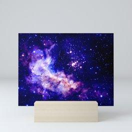 indigo galaxy : Celestial Fireworks Mini Art Print