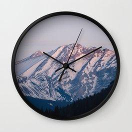 Golden Hour in the Rockies Wall Clock