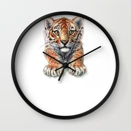 Playful Tiger Cub 907 Wall Clock