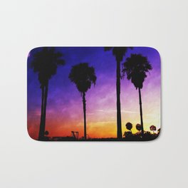 Purple Sunset Bath Mat