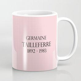 Germaine Tailleferre Female Composer Les Six, Ravel Paris Piano Harp vintage 1920s flapper lady Coffee Mug