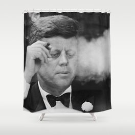 John F Kennedy Smoking Shower Curtain