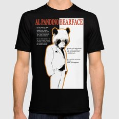 Tony MonPanda - Bearface SMALL Mens Fitted Tee Black