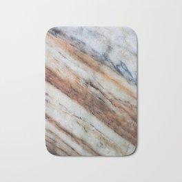 Gray brown marble Bath Mat