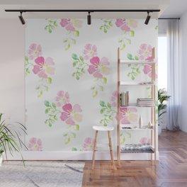 aquarel flowers Wall Mural
