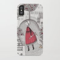 justin timberlake iPhone & iPod Cases featuring The Old Village by Judith Clay