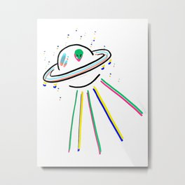 You see me like a UFO Metal Print