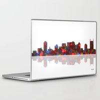 nashville Laptop & iPad Skins featuring Nashville Skyline  by Marlene Watson