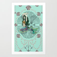 Mermaid Deco Art Print