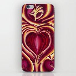 4 of hearts iPhone Skin