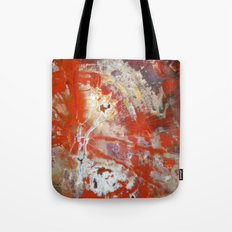 Red Wood Tote Bag