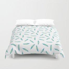Pillow Fight on White Duvet Cover