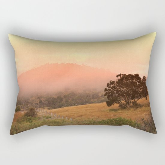 Early Fog In The Hills Rectangular Pillow