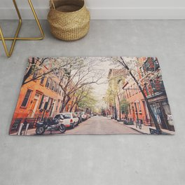 New York City - Springtime in the West Village Rug