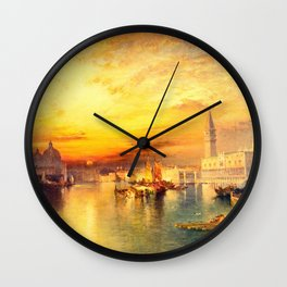 Thomas Moran - Grand Canal  Venice1898 Wall Clock