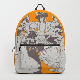 Vintage Ladies APRICOT / Vintage illustration redrawn and repurposed Backpack