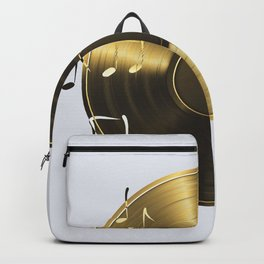 Gold LP Vinyl Record Backpack