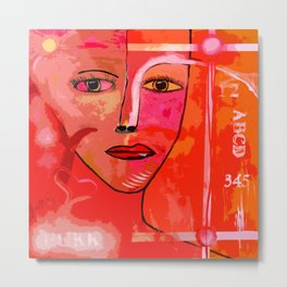 Bright and Colorful Woman Metal Print