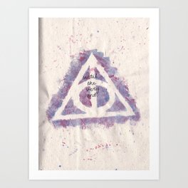 deathly hallows (in purple) Art Print