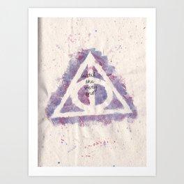 deathly hallows (in purple) Art Print