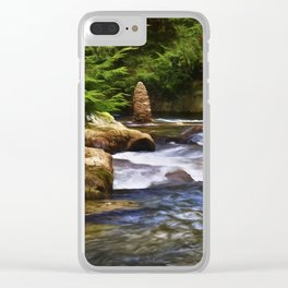 The Cairn at Blue Jay Creek Clear iPhone Case