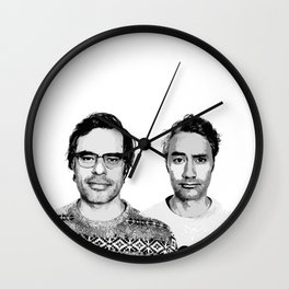 Jemaine and Taika 3 Wall Clock