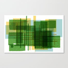 Abstract Geometric Dots Canvas Print