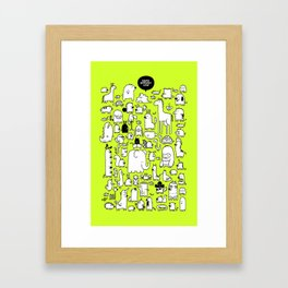 All the Beasts, Imagined and Real Framed Art Print