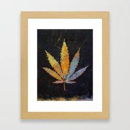 Cannabis Framed Art Print