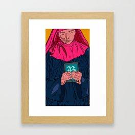 Mobible Nun Framed Art Print
