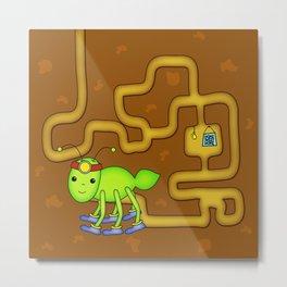 Kawaii Ant Tunneling Home  Metal Print