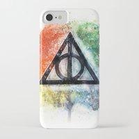 deathly hallows iPhone & iPod Cases featuring Deathly Hallows  by Luke Jonathon Fielding