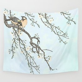 Birds and blossoms Wall Tapestry