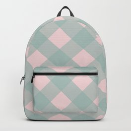 Pink & Mint Checkered Pattern-Mix and Match with Simplicity of Life  on #Society6 Backpack