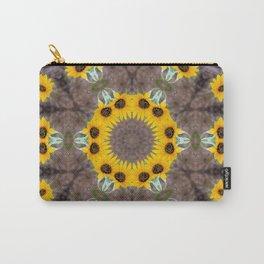 Sunflower mandala Carry-All Pouch