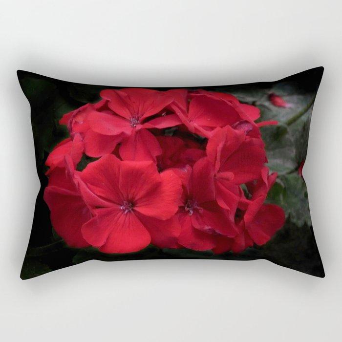 blooming on black -01- Rectangular Pillow