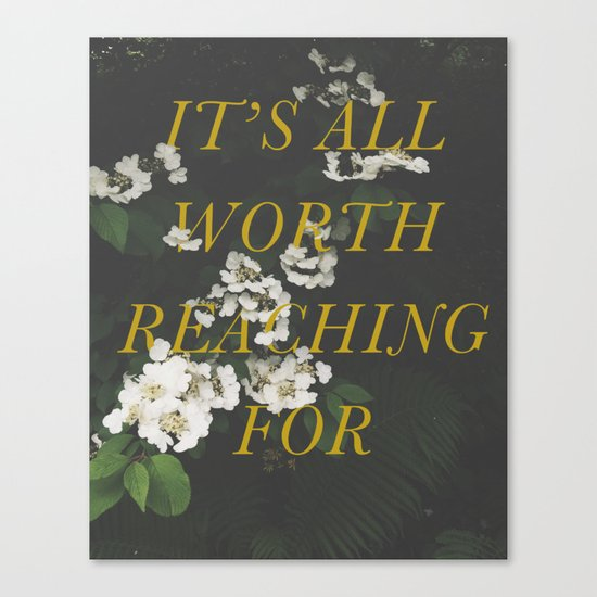 It's All Worth Reaching For Canvas Print