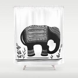 Lucky Elephant Shower Curtain