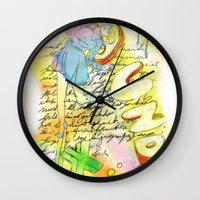 sound Wall Clocks featuring Sound by MODESTo! Prints