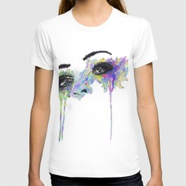 Watercolor Abstract Eyes Design  T-shirt