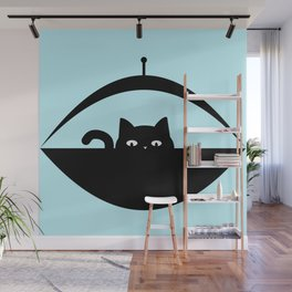 Out of the Blue - Space Cat Wall Mural