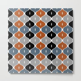 Colorful abstract eyelets pattern Metal Print