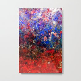 Abstract Art in Red Sunset Palette Metal Print