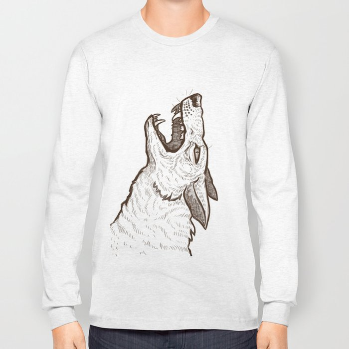 Open Mouth Long Sleeve T-shirt