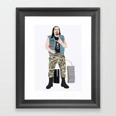 Metalhead Gamer Framed Art Print