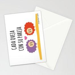 Cada oveja con su pareja Stationery Cards